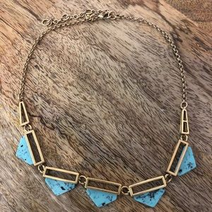 J. Crew Aqua Bauble Necklace